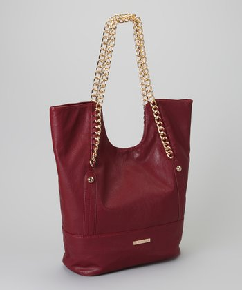 Ox Blood Chain Raquel Tote