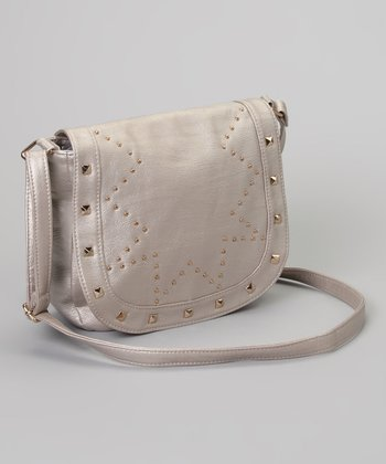 Pewter Stud Marielle Crossbody Bag