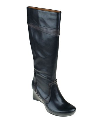 Black Newcastle Wedge Boot