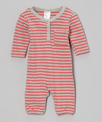 Red Stripe Organic Romper - Infant & Toddler