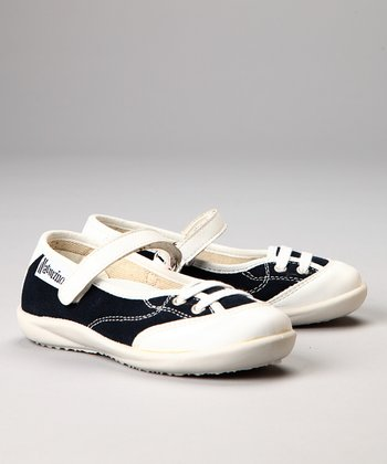 Naturino Blue & White Mary Jane Sneaker