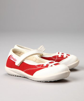 Naturino Red & White Mary Jane Sneaker
