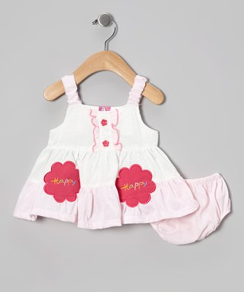 Baby Pink 'Happy' Dress - Infant & Toddler