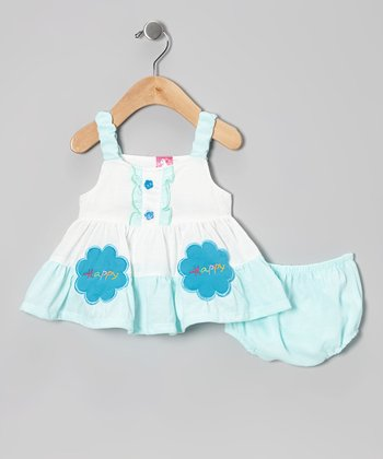 Baby Blue 'Happy' Dress - Infant & Toddler