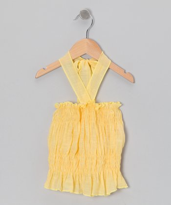 Yellow Halter Top - Toddler & Girls