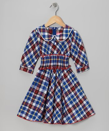 Pink & Blue Plaid Dress - Toddler & Girls