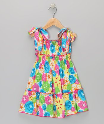Pink Floral Sundress - Toddler & Girls