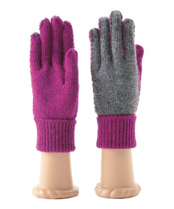 Magenta Kia Wool-Blend Gloves