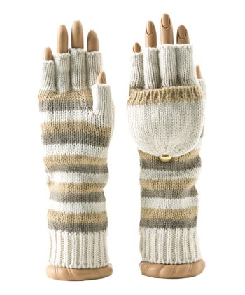 Ivory Luna Convertible Fingerless Gloves