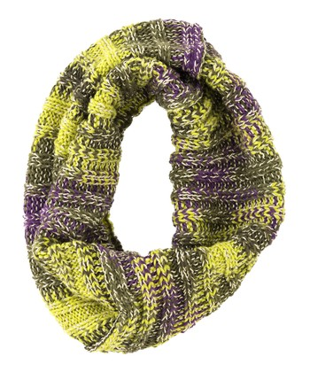 Yellow & Purple Mona Infinity Scarf