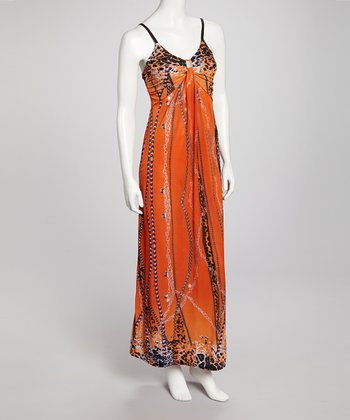 Orange Kristeen Maxi Dress