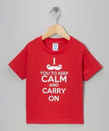 Red 'Keep Calm' Tee - Toddler & Kids