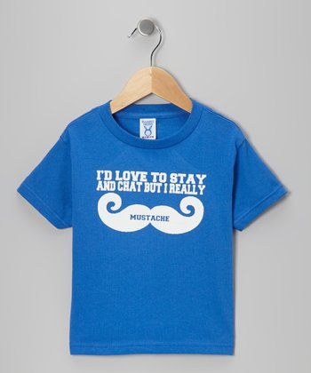 Blue 'Love To Stay and Chat' Tee - Toddler & Kids