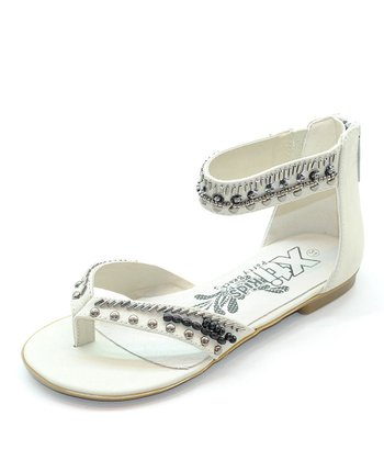 White Embellished Gladiator Sandal