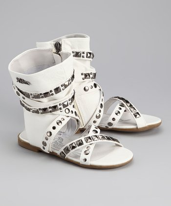White Strappy Gladiator Sandal