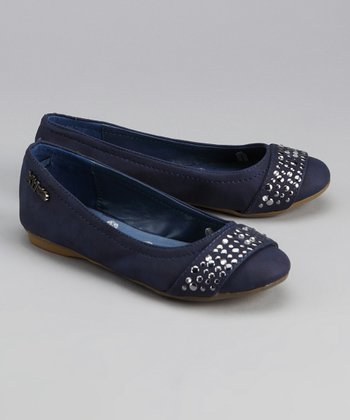 Navy Sequin Flat