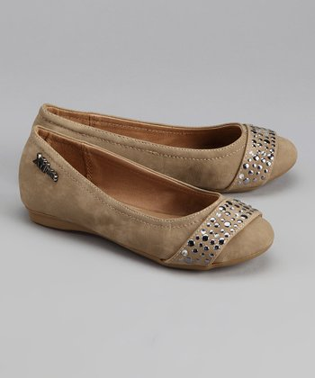 Light Brown Sequin Flat