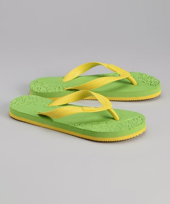 Green & Yellow Flip-Flop