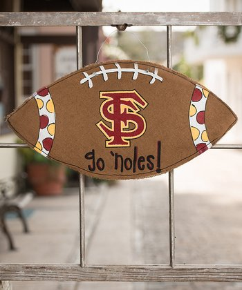 Florida State Football Burlap Wall Hanging