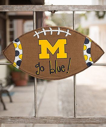 Michigan Football Burlap Wall Hanging