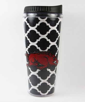 Arkansas Quatrefoil Travel Mug