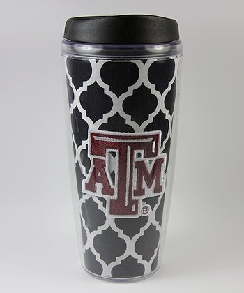 Black Quatrefoil Texas A&M Travel Mug