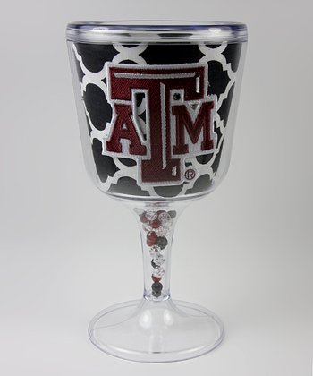 Black Quatrefoil Texas A&M Goblet