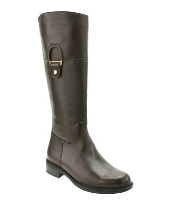 Brown Wide-Calf Eileen Boot