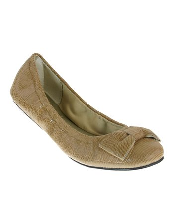Natural Lizard Fitter Ballet Flat