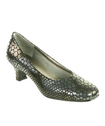 Black Snakeskin Lisa Pump