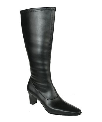 Black Denver Wide-Calf Boot