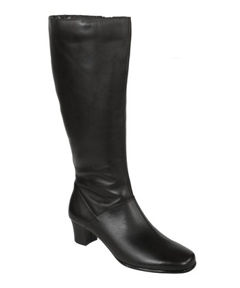 Black Soft Calf Dove Wide Calf Boot