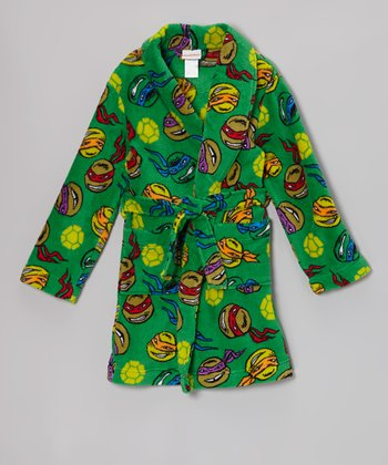 Green Ninja Turtles Robe - Boys