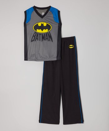 Gray Batman Pajama Set - Boys
