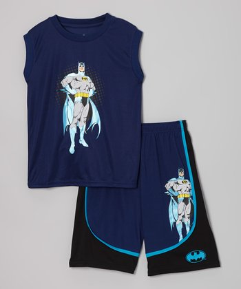 Navy Batman Pajama Set - Boys