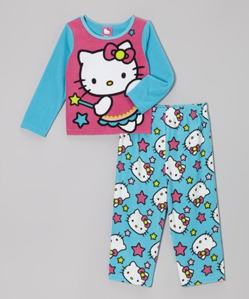 Blue Hello Kitty Star Pajama Set - Toddler