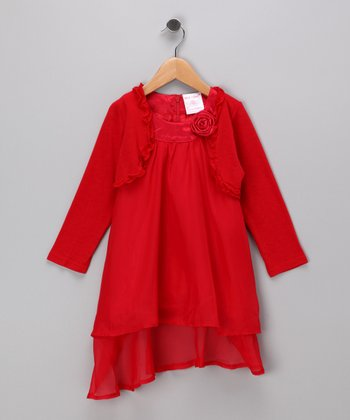 Red Dress & Bolero - Toddler & Girls