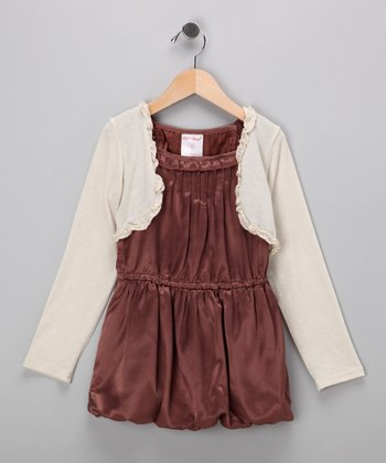 Brown Dress & Bolero - Toddler & Girls