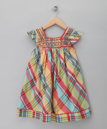 Red & Yellow Plaid Dress - Toddler & Girls