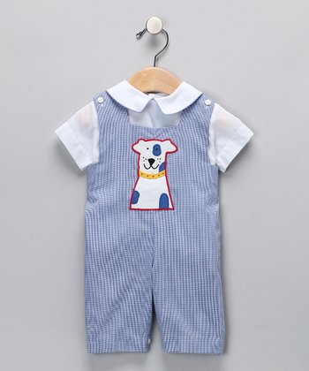 Blue Dog Shirt & Playsuit - Infant