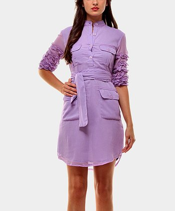 Lilac Victoria Three-Quarter Sleeve Dress