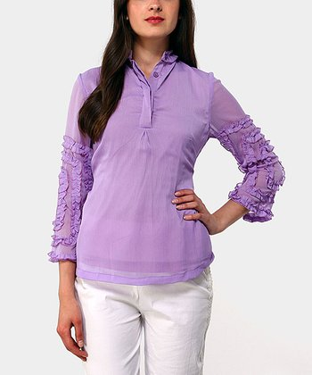 Lilac Cancun Button-Up