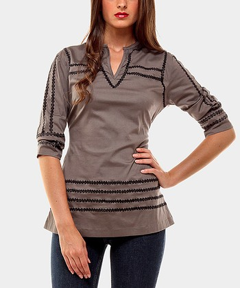 Gray Greatest Three-Quarter Sleeve Top