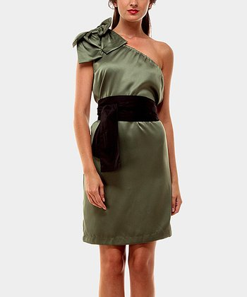 Green Sisi Asymmetrical Dress
