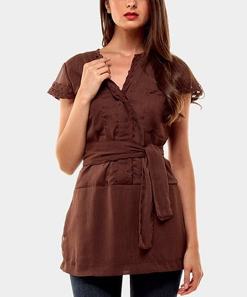 Chocolate Wish Cap-Sleeve Top