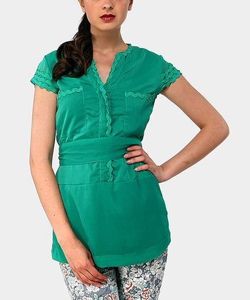 Sea Foam Green Wish Cap-Sleeve Top