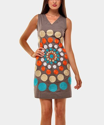Gray Tony Sleeveless Dress