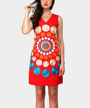 Red Tony Sleeveless Dress