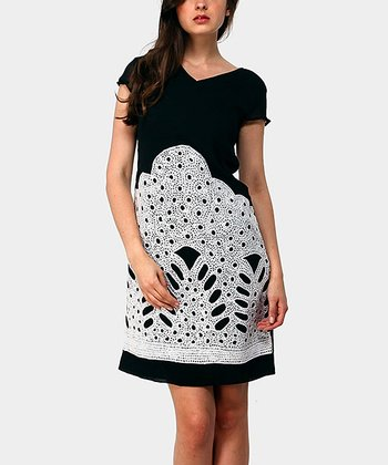 Black Mountain Cap-Sleeve Dress