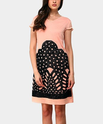 Rose Mountain Cap-Sleeve Dress